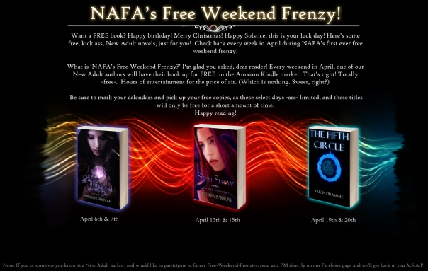 New Adult Fiction Addiction Founders Free Weekend Frenzy